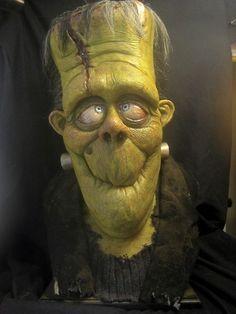 By Adam Dougherty Frankenstein Theme Halloween, Halloween Doll, Fall Halloween, Halloween Crafts, Living Puppets, Frankenstein Art, Bd Comics, Classic Monsters, Halloween Pictures