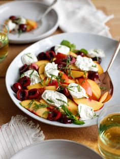 Danae's Stone Fruit and Burrata Salad
