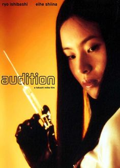 Audition - A widower takes an offer to screen girls at a special audition, arranged for him by a friend to find him a new wife. The one he fancies is not who she appears to be after all.
