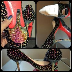 Volcano swarovski crystals on this Louboutin heel.