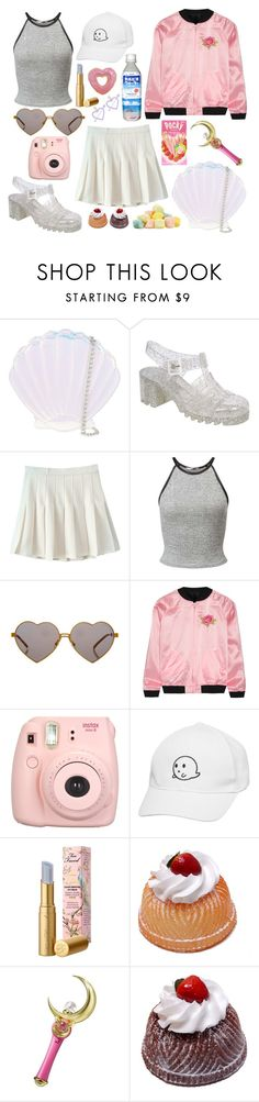 """""""Like Jelly"""" by intergalactic-fx ❤ liked on Polyvore featuring Skinnydip, Pilot, Miss Selfridge, Wildfox, Opening Ceremony, Fujifilm, Too Faced Cosmetics, Bandai, tumblr and 90s"""