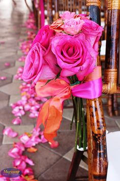Perfect Summer Wedding Decor #pink #flowers #wedding