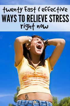 I like to think I'm good at a lot of things, but I'm the first to admit I'm absolutely rubbish at handling stress and chaos. But thanks to these 20 fast and effective ways to relieve stress right now, I'm less likely to fly off the handle these days. I find #s 3, 6, 9, 12, and 19 to be the most effective. How about you?