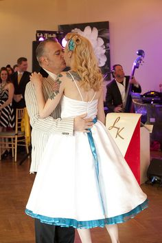 Her hair is amazing! @Emm Dubbs this whole wedding makes me think of you and your rockabilly ways