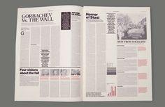 ISTD-Freiheit Newspaper by Carlota Marcos, via Behance