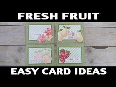 Stamping Jill - Sponge Fresh Fruit Card Ideas - YouTube