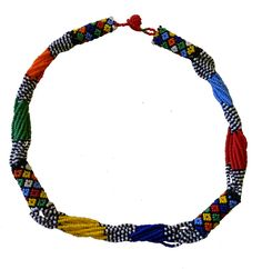 Traditional necklace. Made by the crafters of Woza Moya www.hillcrestaids.org.za