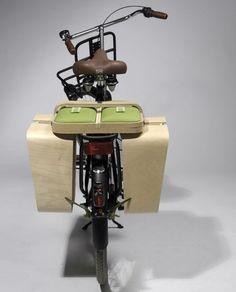 Hay una alforja para bicicletas que se hace mesa