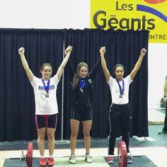 Final régional des jeux du Québec   Région de Montréal   Claudie Vaillancourt médaillée d'argent   58 kg à l'arraché   74 kg à l'épaulé jeté - 7 févirier 2014 - #FHQ