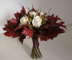 Love this unusual, fall wedding bouquet. Wish I had thought of this for my October wedding! Fall Wedding Boquets, Boquette Wedding, Fall Wedding Flowers, Fall Flowers, Flower Bouquet Wedding, Autumn Wedding Bouquet, Wedding Ideas, Fall Bouquets, Bride Bouquets
