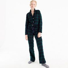 "Our flannel pajamas give you the best (and coziest) excuse to watch movies all Saturday long. And they make a great gift too. Fun fact: ""Black Watch"" is named after a regiment formed in 1725 to guard the Scottish highlands...in kilt uniforms, naturally. <ul><li>Loose fit.</li><li>Sits at hip.</li><li>Wide leg.</li><li>Top hits at hip; bottom hits at ankle.</li><li>32"" inseam.</li><li&g..."