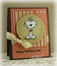 Cute little dog card.  The image looks great on Kraft paper.