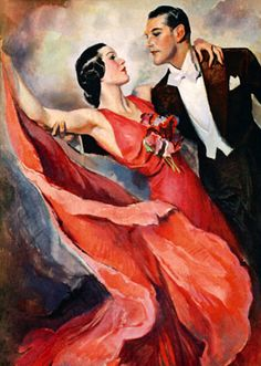 Ballroom Dancing ~ John LaGatta illustration for The Saturday Evening Post, April 1937.