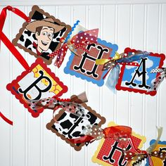 TOY STORY Birthday Party Banner Decoration by craftysweethearts, $54.99
