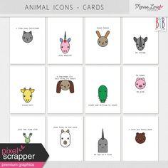 Animal Pocket Cards Kit
