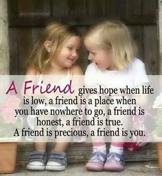 A real friend can be closer than a brother!