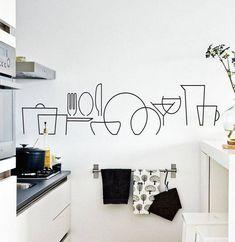 decoración de paredes para cocinas sencillas