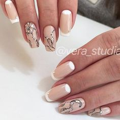 There are three kinds of fake nails which all come from the family of plastics. Acrylic nails are a liquid and powder mix. They are mixed in front of you and then they are brushed onto your nails and shaped. These nails are air dried. French Nail Designs, Beautiful Nail Designs, Nail Art Designs, Dream Catcher Nails, Manicure, Plaid Nails, Latest Nail Art, Halloween Nail Designs, Great Nails