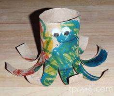 Toilet Paper Roll Octopus