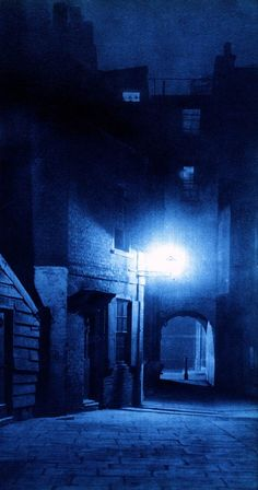 """""""London Night"""" by Harold Burdekin (1934) from Spitalfields Life - East End Riverside"""