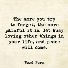Peace will come.