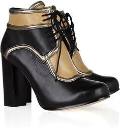 Mary Lace-up Leather Ankle Boots - Lyst