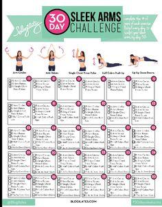 Blogilates - 30 day arm challenge