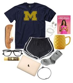 """""""Good morning☕️"""" by so-preppy ❤ liked on Polyvore featuring New Agenda, NIKE, UGG Australia, Ray-Ban, Sun Bum, women's clothing, women's fashion, women, female and woman"""