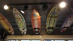 Old Brunotti windsurf boards are hanging at our ceiling.