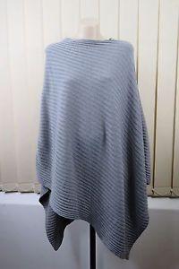 Size M 12 Ladies Poncho Grey Layer TOP Winter Warm Casual Boho Chic Gypsy Style | eBay