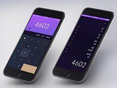 Daily UI #004 - Calculator by Tom Koszyk