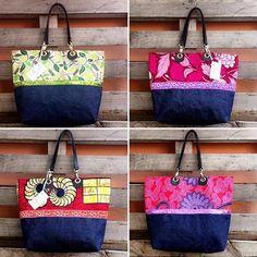 Rdv samedi 20 mai de 9h a 19 pour la vente de L'AIFCi au Sofitel Hotel ivoire. L.E cabas duo jean et pagne vlisco #vliscofashion #vliscooutfit #vlisco. African Accessories, Bag Accessories, Women's Suitcases, Ankara Bags, Travel Bag Essentials, How To Make Shoes, Denim Bag, Fabric Bags, Printed Bags