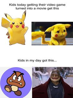 Video Game Movies Then and Now - Penguin Funny - Funny Penguin meme - - Pikachu Video Game Movies Then and Now The post Video Game Movies Then and Now appeared first on Gag Dad. Funny Shit, Funny Cute, The Funny, Funny Jokes, Hilarious, Funny Facts, Funny Stuff, Pokemon Memes, Pokemon Cards