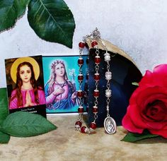 Unbreakable Traditional Catholic Chaplet of St. Philomena - Patron Saint of…