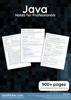 Java is a general-purpose computer-programming language that is concurrent, class-based, object-oriented, and specifically designed to have as few implementation dependencies as possible. Python Programming Books, Free Programming Books, Computer Programming Languages, Teach Yourself Code, Learn Computer Coding, Computer Science, Programming Tutorial, Educational Websites, Free Books