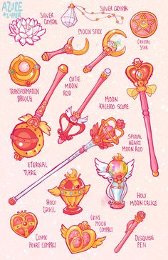 Sailor Moon objects by Azure-and-Copper on DeviantArt - Sailor Moon objects by . - Azure-and-Copper Sailor Moon objects on DeviantArt – Azure-and-Copper Sailor Moon objects on Devi - Sailor Moon Crystal, Cristal Sailor Moon, Sailor Moon Tattoos, Sailor Moon Tumblr, Sailor Moon Fan Art, Sailor Moon Usagi, Tattoo Moon, Sailor Scouts, Magical Girl