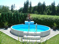 Future Pool round pool set Fun 420 x 120 cm - Piscina Above Ground Pool Landscaping, Backyard Pool Landscaping, Above Ground Swimming Pools, In Ground Pools, Above Ground Pool Decks, Landscaping Ideas, Backyard Ideas, Terrace Ideas, Pool Landscape Design