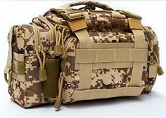 UYIKOO Outdoor Lure Versatile Fishing Tackle Bag Multifunctional Bionic Camouflage Waist Pack Messenger Bag Lures Fishing Packages *** Read more reviews of the product by visiting the link on the image.