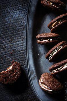Black & White Brownie Sandwich Cookies...