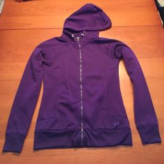 Under Armour Storm Hooded Full Zip Fleece Excellent condition.  Worn only a few times.  Silky outer, brushed fleece inner. Under Armour Tops Sweatshirts & Hoodies