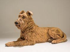 Nick Mackman Dog Sculpture Irish Terrier 'Keo'