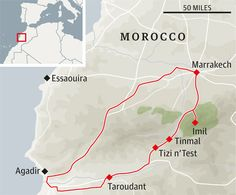 "A road trip in Morocco in The Guardian: ""The map describes it as ""dangerous and difficult"", which is a fair description, but it's also one of the most exhilarating, overwhelmingly beautiful drives you will ever take."""