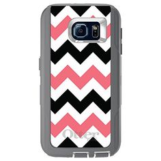 CUSTOM Grey OtterBox Defender Series Case for Samsung Galaxy Black Pink Chevron Stripes *** You can find more details by visiting the image link. (This is an affiliate link) Technology Gadgets, Samsung Galaxy S6, Cell Phone Cases, Chevron, Stripes, Image Link, Amazon, Grey, Pink