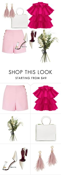 """""""Summer romance"""" by savvyimagehk ❤ liked on Polyvore featuring Miss Selfridge, Wyld Home, Sara Battaglia, CÉLINE and Lizzie Fortunato"""
