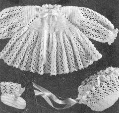 *Free Crochet Pattern:  Alice Fowler Crocheted Baby Set 1240