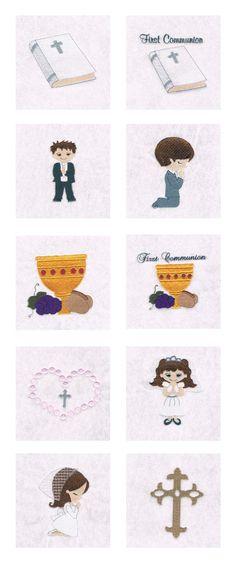 Embroidery Machine Designs - First Communion Set
