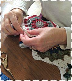 happily crocheting