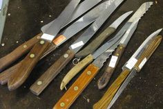"""""""Any time I see kitchen knives for sale cheap at a garage sale, I grab as many as I can. They make perfect candidates for stubby little scrapers, marking knives, probes and just about anything else I can think of grinding them down for. Even the cheapest ones have decent steel and good handles."""""""
