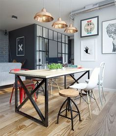 Amazing modern industrial apartment by Int 2 Architects // Increíble departamento vintage industrial moderno // Casa Haus