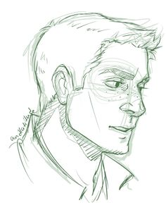Someday I will get Jensen's face right. Today is not that day.